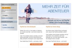 PayPal.de: Neue gefälschte Aktivierungs-Mails von paypal@paypal.de unterwegs