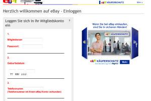 Gefälschte Ebay E-Mail: Bitte überprüfen Sie Ihre Identität von secure@ebay.com