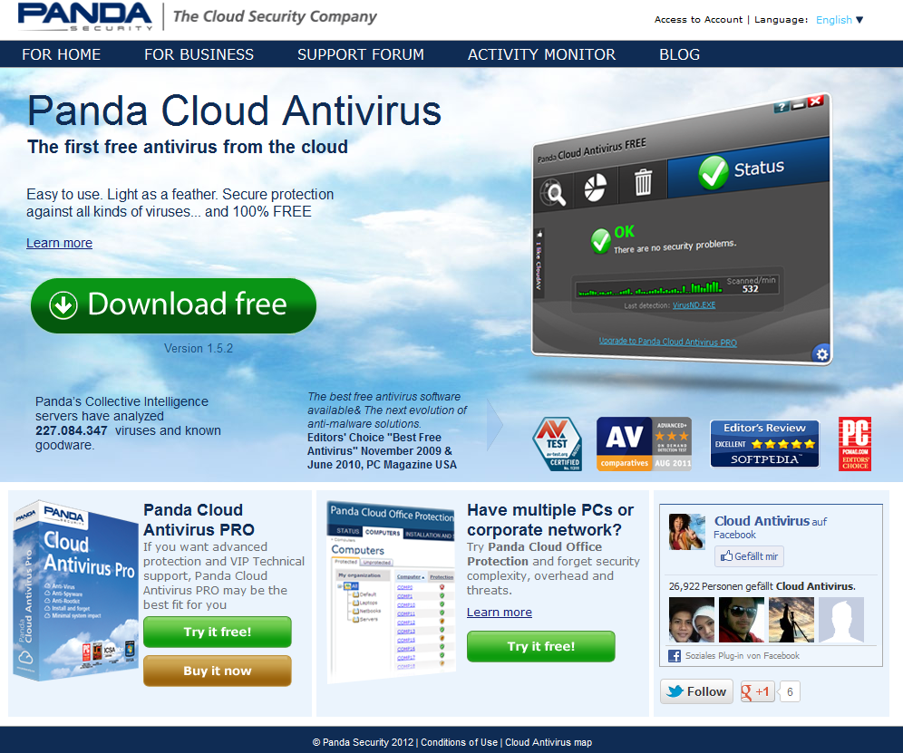 Panda Security Cloud Antivirus