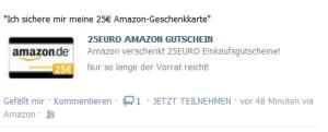 Amazon-Geschenkkarte Facebook