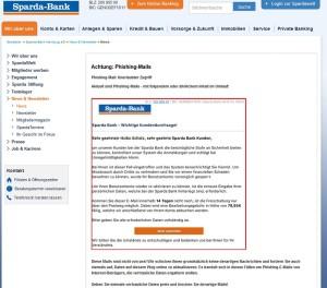 Sparda Bank Phishing-Mails