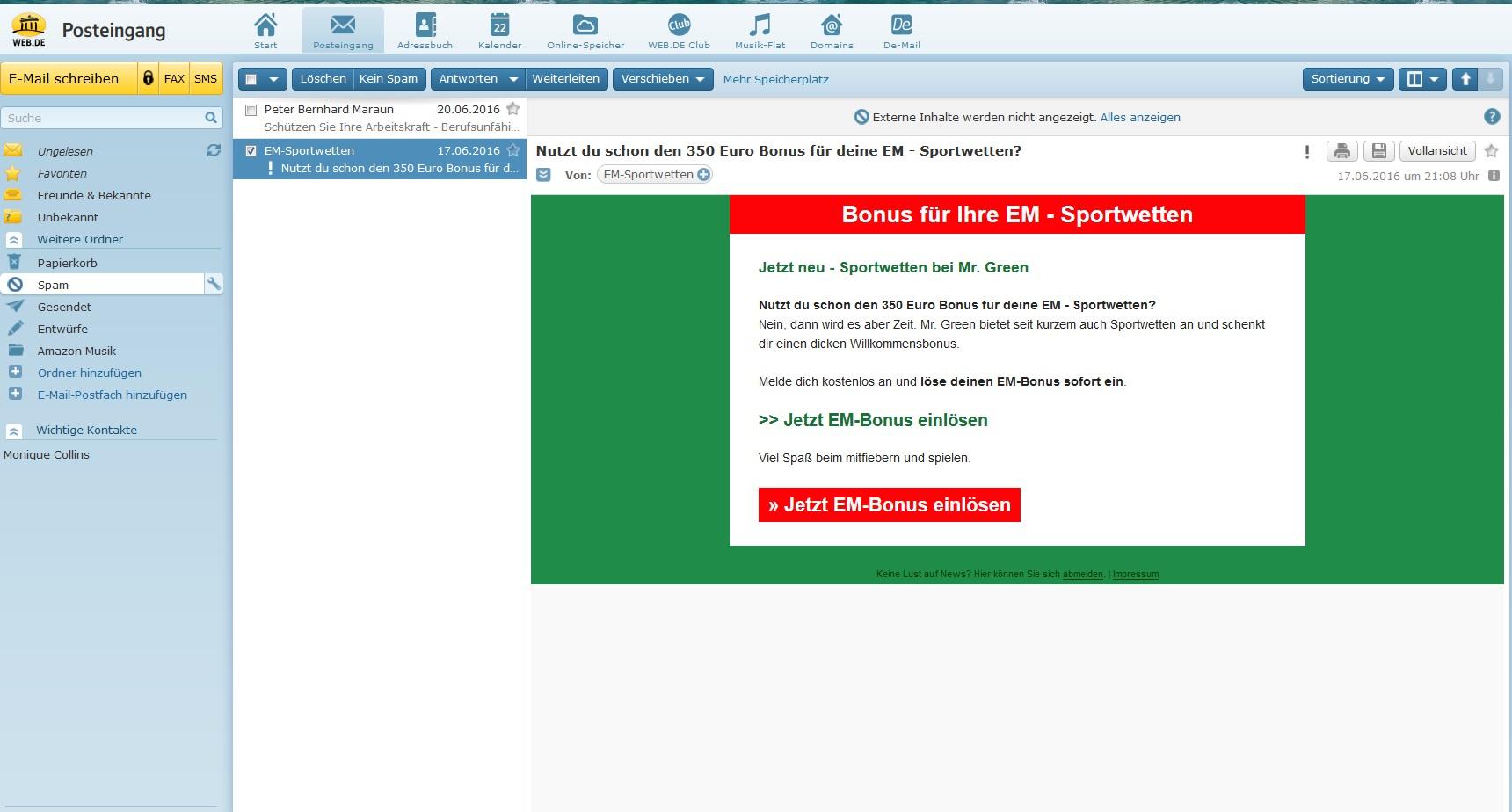 350 Euro Bonus für deine EM - Sportwetten