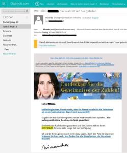Miranda-Spam: Entdecken Sie die Geheimnisse der Zahlen!
