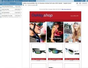 Oakley Sonnenbrillen Spam