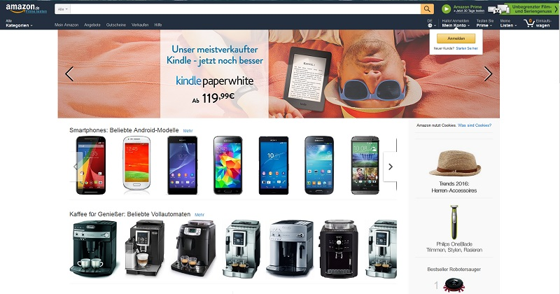 Amazon (Screenshot @ Amazon.de)
