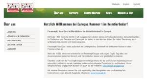 """Fressnapf-Futterwarnung nicht bewiesen ( (© Screenshot """"Fressnapf.de"""")"""