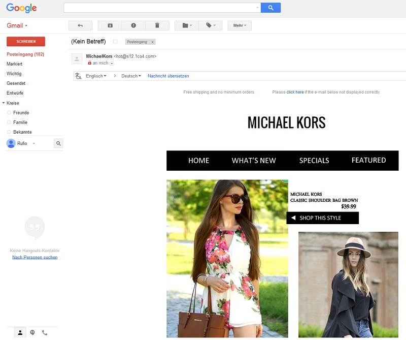 Michael Kors Spam