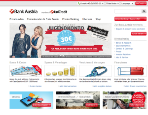 Phishing-App - Bank Austria SmsSecurity ist ein Fake! (Screenhot bankaustria.at)
