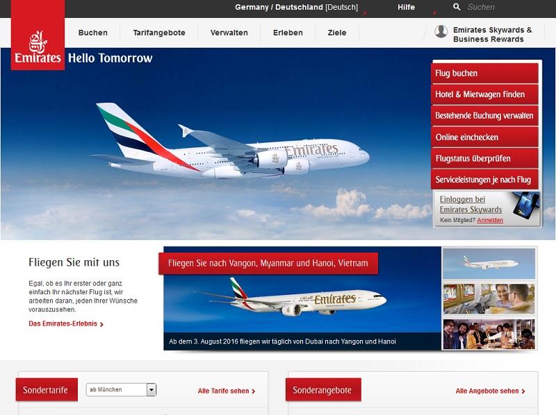 Fly Emirates Gewinnspiel Facebook Fake
