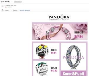 Vorsicht: Pandora Spam