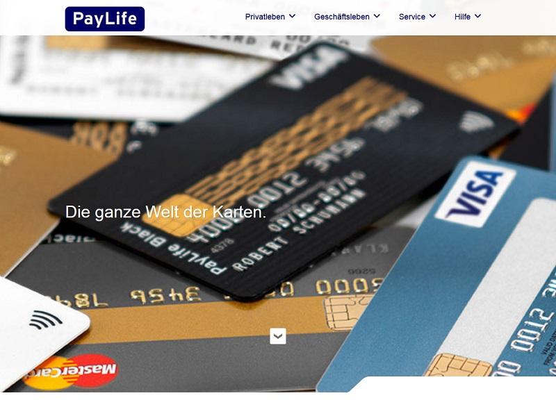 Angebliche PayLife-Kreditkartensperrung (Sceenshot paylife.at)