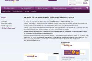 """Phishing-Mails im Namen der """"Deutschland Card"""""""