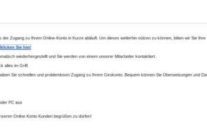 "Sparkasse-Phishing: ""Online-Konto-Zugang läuft ab"""