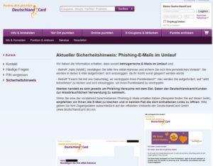 """Wieder """"Deutschland Card""""-Phishing-Mails im Umlauf"""