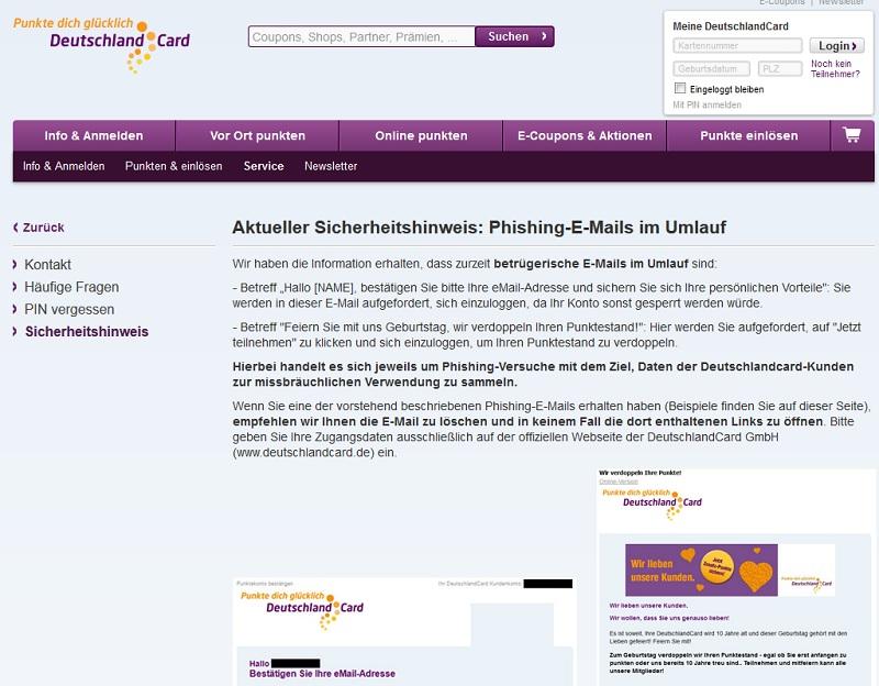Deutschlandcard 2 Karte Anmelden.Wieder Deutschland Card Phishing Mails Im Umlauf Anti Spam Info
