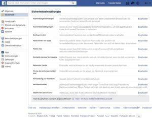 Facebook-Sicherheit (Screenshot @ facebook.com)