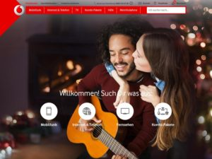 Originale vodafone.de-Seite (Screenshot vodafone.de)