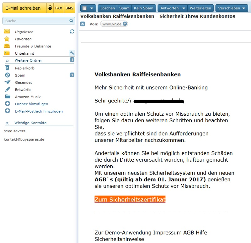 Amazon mit online banking