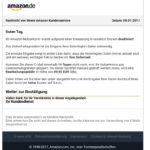 """Amazon-Phishing: """"Nutzerkonto aufgrund einer Neuerung deaktiviert"""""""