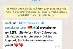 WhatsApp: Fake-Lidl-Gutscheine im Umlauf