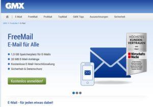 GMX-Nutzer sollten aufpassen (Screenshot gmx.de)