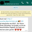WhatsApp: H&M-Gutscheine zum Jahrestag?