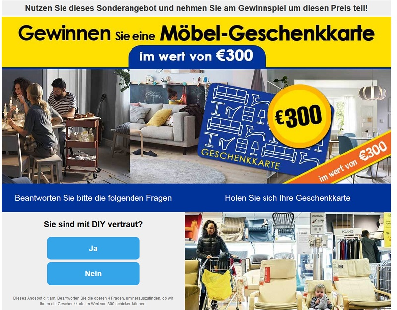 whatsapp die abzocke mit dem ikea gutschein. Black Bedroom Furniture Sets. Home Design Ideas