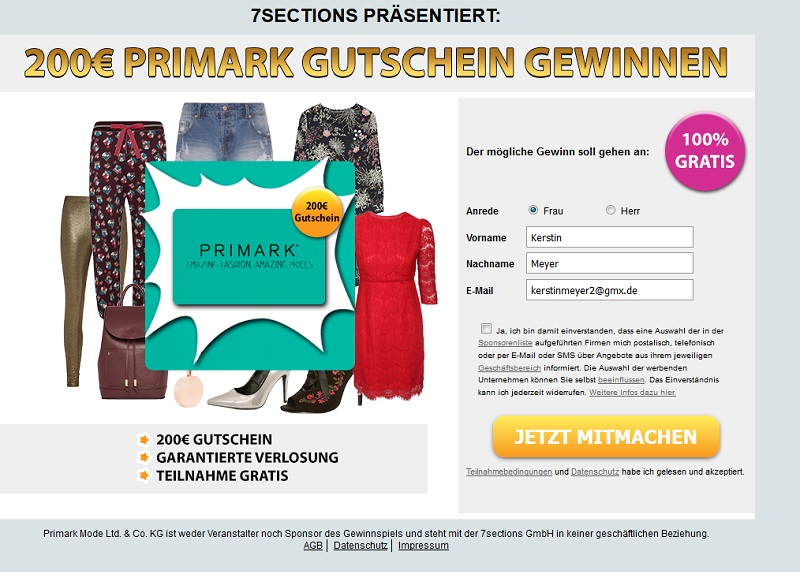 Primark-Gutschein