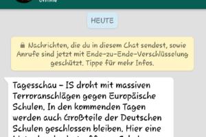 WhatsApp-Fake: Terroranschläge gegen Schulen