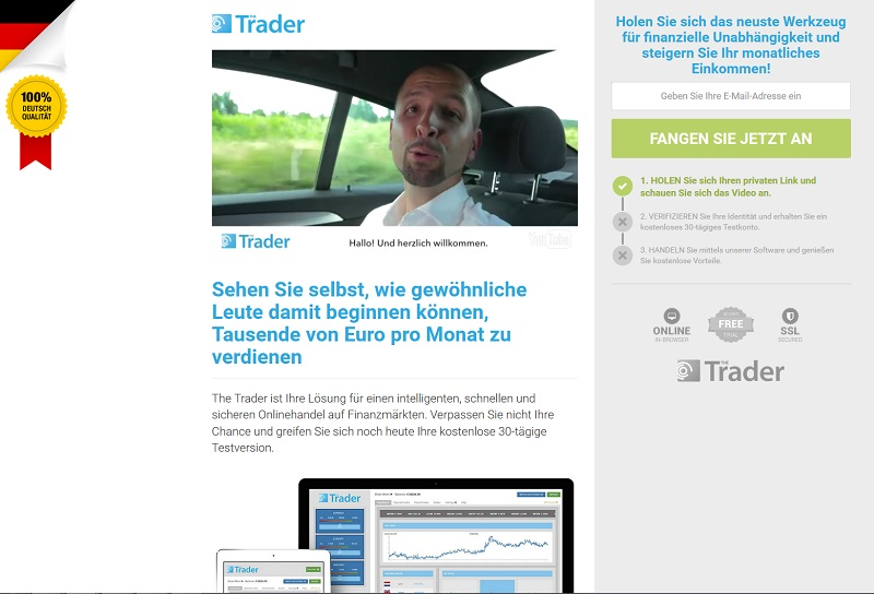 The Trader (Screenshot traderapp-de.com)