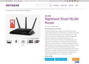 Unsichere Netgear-Router: Sicherheits-Updates verfügbar(Screenshot @netgear.de)