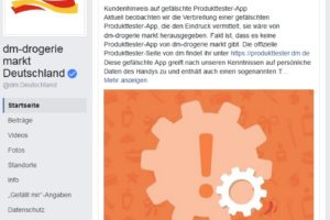 Trojaner durch dm-Produkttester-Fake-App