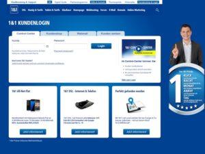 1und1 Phishing (Screenshot echter Login auf 1und1.de)