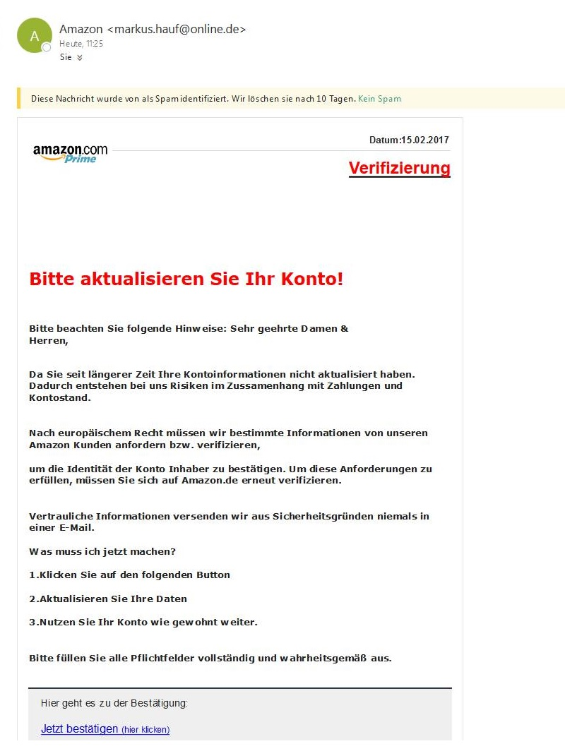 Amazon-Verifizierung
