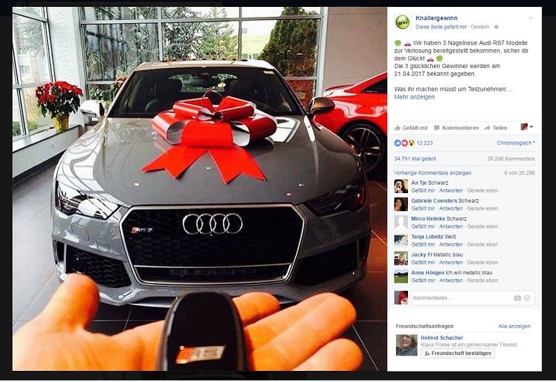 Audi Gewinnspiel