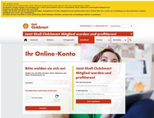 Shell ClubSmart Sicherheitswarnung Login
