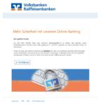 Volksbanken-Raiffeisenbanken-Phishing: neue AGB's
