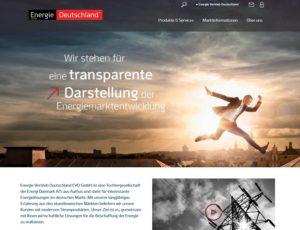 Energie Deutschland ärgert sich über Fake-Energierechnung (Screenshot energiedeutschland.de)