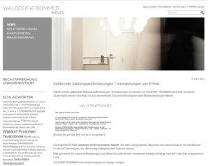 Kanzlei Waldorf Frommer (Screenshot waldorf-frommer.de)