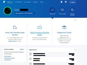 """PayPal """"Freunde & Familie"""" (Screenshot: Paypal.de)"""