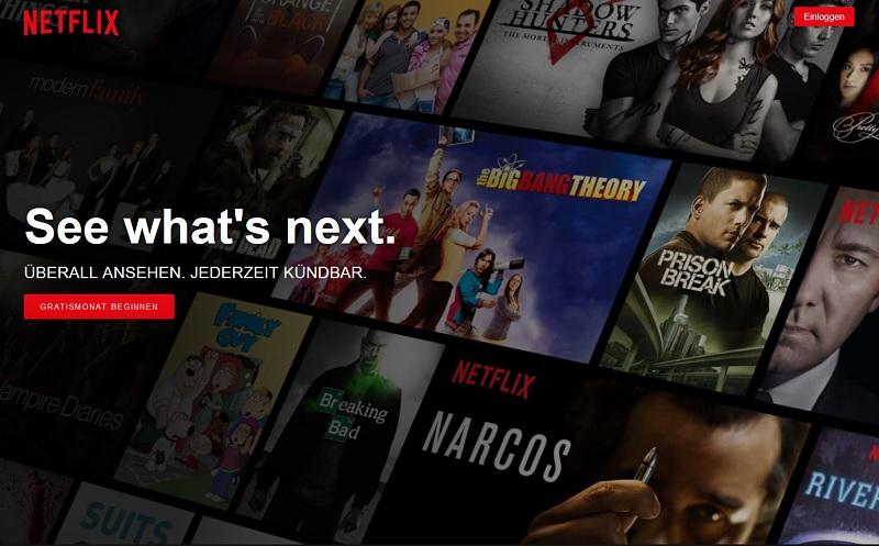 PayPal-Rechnung von Netflix (Screenshot: Netflix.de)