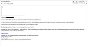 Postbank-Phishing
