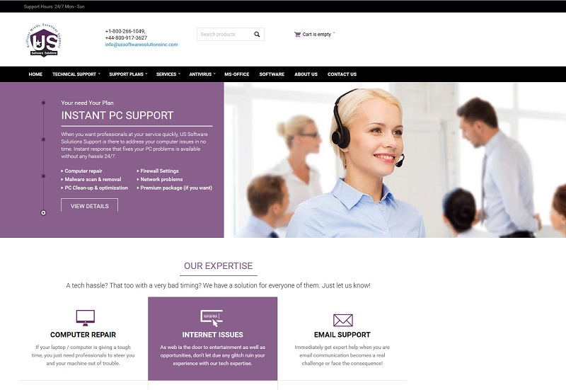 US Software Solutions Inc (Screenshot: ussoftwaresolutionsinc.com)