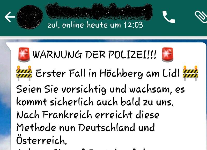 WARNUNG DER POLIZEI: Fake!