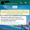 Bewegliche WhatsApp-Emojis locken in die Falle
