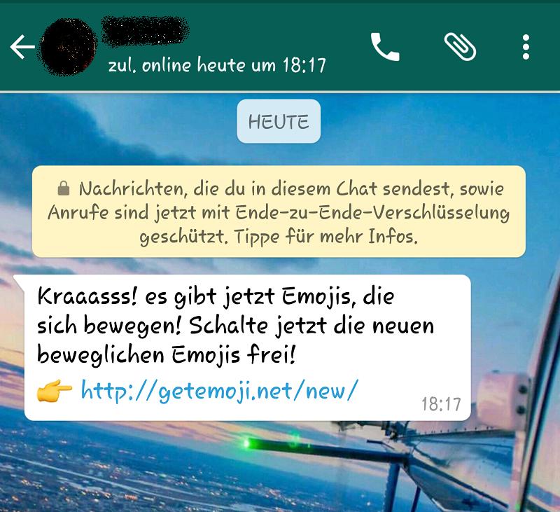 Bewegliche WhatsApp-Emojis sind Fake!