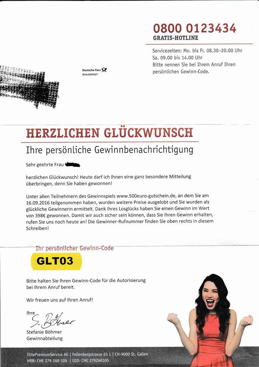 ElitePremiumService AG: Gewinn oder Betrug?