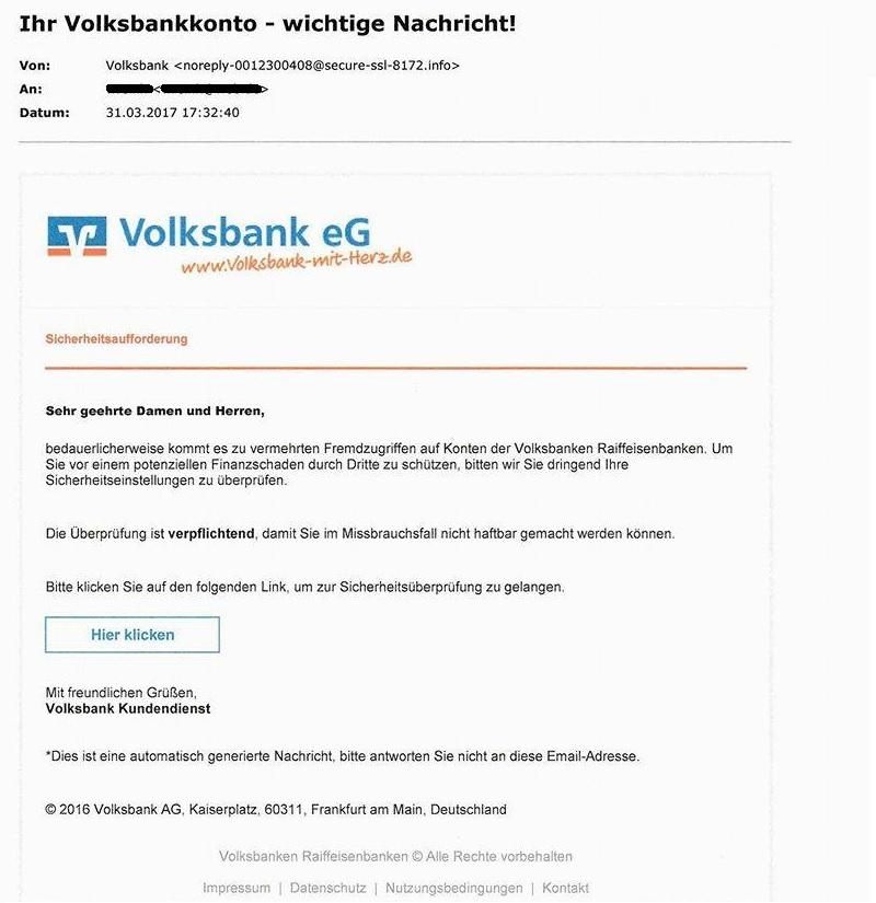 Volksbanken-Raiffeisenbanken-Phishing