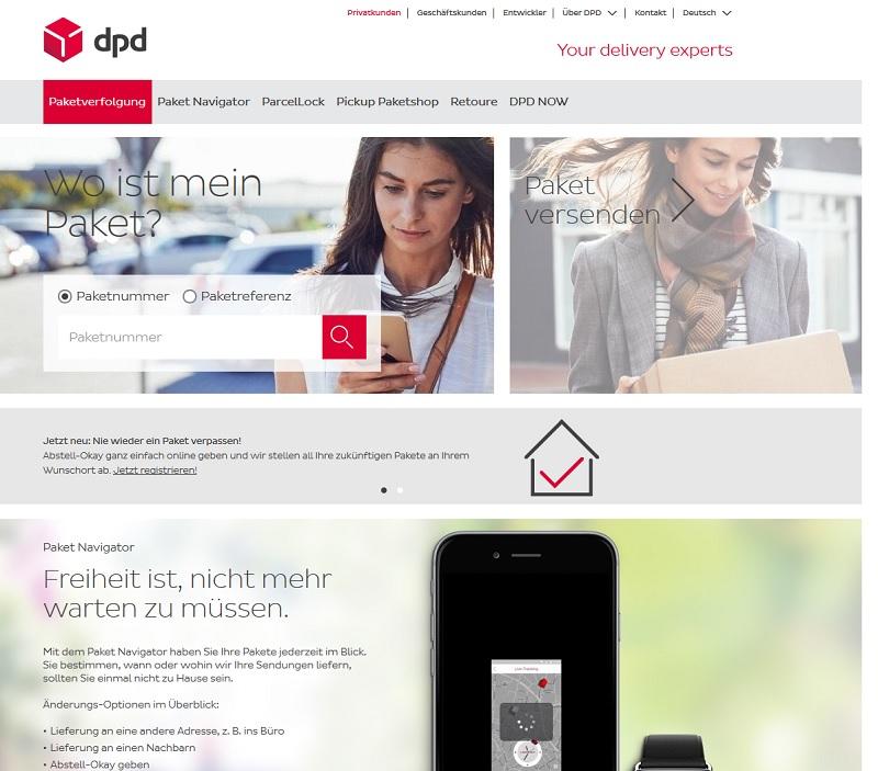 DPD-Hackerangriff legt alles lahm (Screeshot: dpd.com)