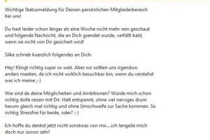 """Erotik-Spam: """"Ganz neue Nachrichten fuer Dich"""""""